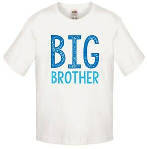 Blue-Ombre-Big-Brother-Boys-T-Shirt-Printed-Gift-Present-Pregnancy-Reveal-Top