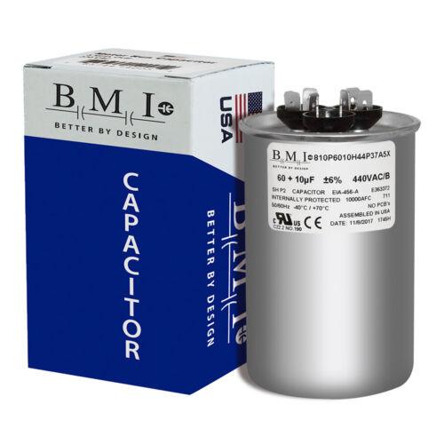 USA Dual Run Capacitor 10//60 10+60 60//10 MFD uf 370v 440v AC Motor 370 440 VAC
