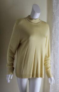e81cea403c896f Ellen Tracy -Sz XL Creamy Yellow Viscose Bamboo Cashmere T-Neck Knit ...