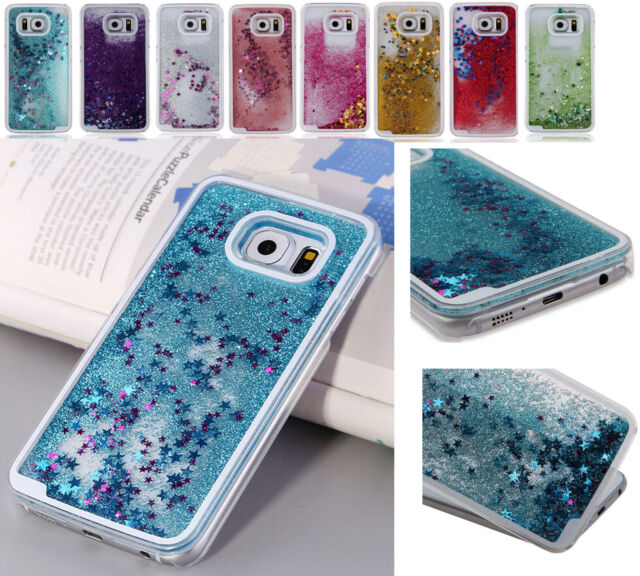 Clear Dynamic Liquid Glitter Paillette Quicksand Case Cover For Samsung Galaxy