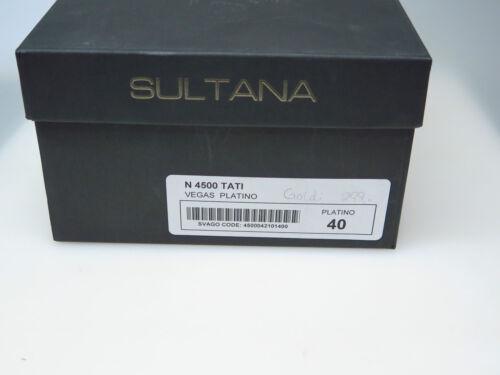 Sultana Scarpe Da Donna Designer N4500 Vegas Platino Goldi Tg. 40 Nuovo