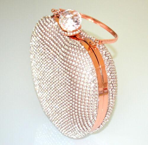Or Sac G50 Clutch Élégant Rose Pochette Cérémonie Scintillement Femme Cristal rT7wTq