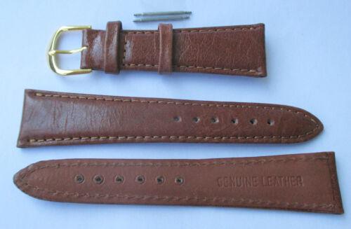 braun Uhrenarmband 22 mm breit Uhrenband +2 Stege Rindleder Leder