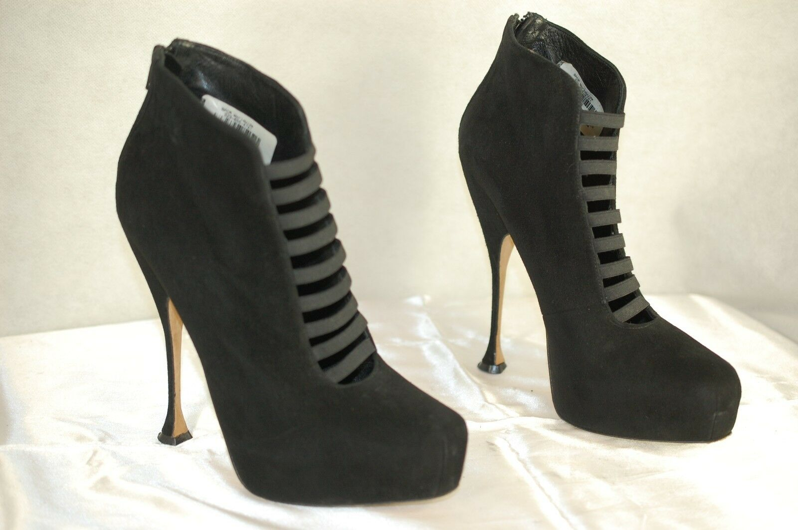 BRIAN ATWOOD ATWOOD ATWOOD 'HILEX' MADE IN ITALY BLACK SUEDE WOMEN BOOTS EU 40 US 10 9094a6