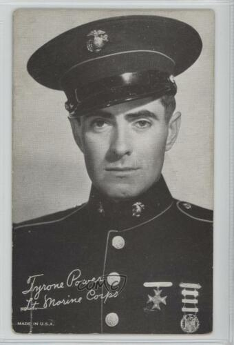1940 194060 Exhibit Movie Stars #TYPO.2 Tyrone Power Lt Marine Corps Card 1s8