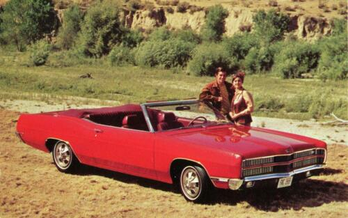 Old Print Red 1969 Ford XL Convertible Auto Advertisement