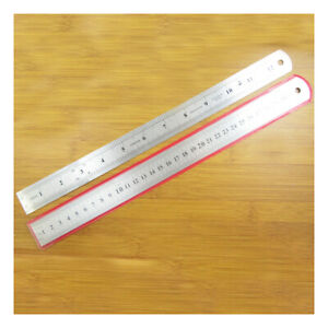 "1 x 12""/30cm ENGRAVED STAINLESS STEEL RULER MEASURE TOOL IMPERIAL METRIC C2353"