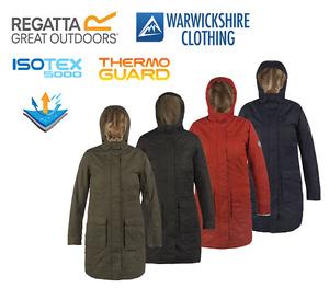 Regatta Roanstar Ladies Long Walking Wind Waterproof Breathable Jacket
