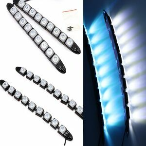 2pcs 9 led daytime running lights car driving drl fog lamp light super white 12v ebay. Black Bedroom Furniture Sets. Home Design Ideas