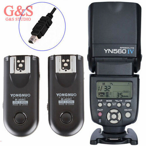 Yongnuo YN-560 IV Flash Speedlite + RF-603 Trigger N3 for Nikon D3100 D90 D7000
