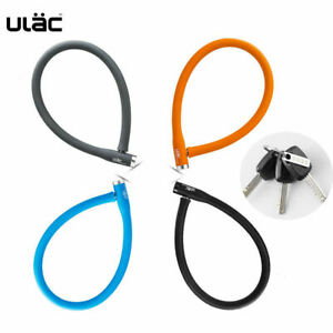 ULAC Multi-function Lock Bike Bicycle Silicone Steel Cable Security Key Lock Red