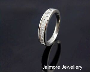 Real-925-Sterling-Silver-AAA-CZ-Wedding-Eternity-Dress-RING-Size-7-5-Free-Gift