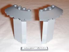 Lego Castle 3 x 3 Corner Walls & 6 x 6 Quarter Round Bricks 76003