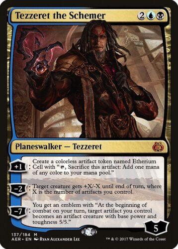 Tezzeret the Schemer Aether Revolt NM-M Blue Black Mythic Rare MTG CARD ABUGames