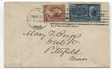 1886 E1 first year of special delivery use Boston MA over penalty imprint
