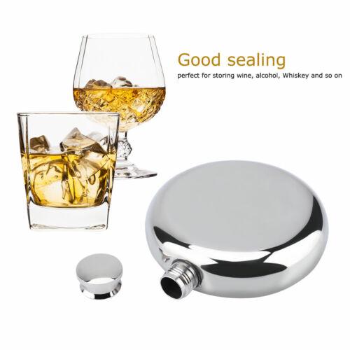 Funnel 5oz Stainless Steel Round Wine Liquor Bottle Alcohol Whiskey Flask