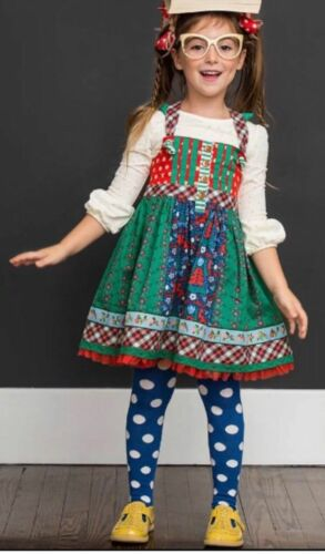 Matilda Jane Holly Days Knot Dress Girl Size 4 New In Bag Christmas Make Believe