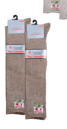 Uomo-Ginocchio Calza tinta più comodo bordo nel pacco 2er