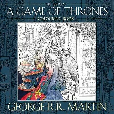 The Official A Game Of Thrones Colouring Book By George RR Martin Paperback Bo