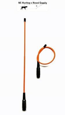 "Garmin Alpha 100 15/"" Flexible /& 10 T5 or TT15 Tuff Skin Long Range Antenna set"