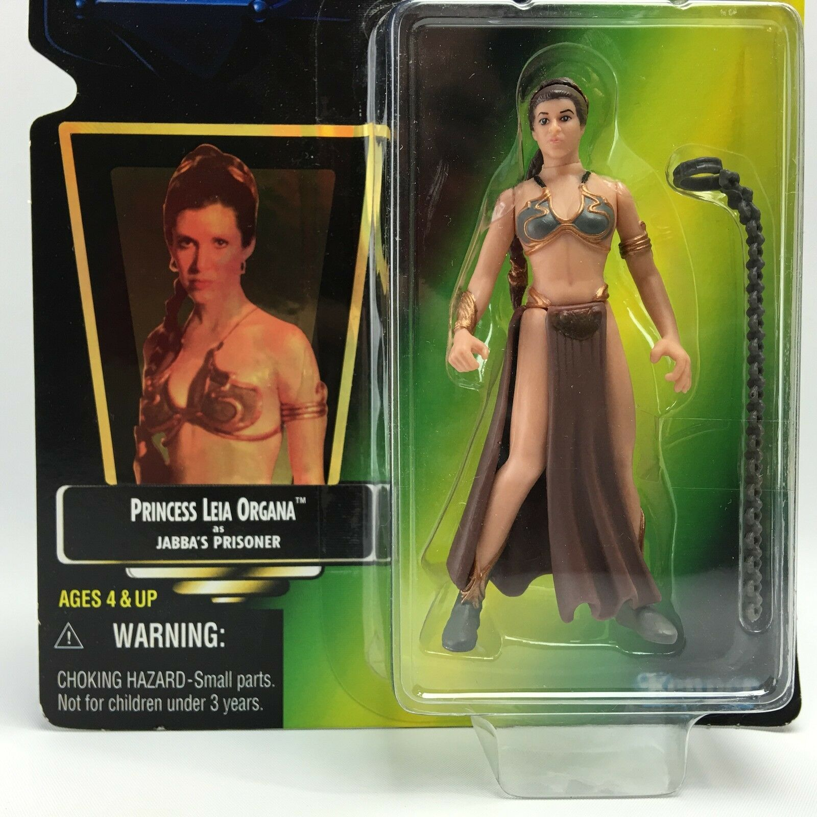 Figurine StarWars : Star Wars POTF2/PRINCESS LEIA ORGANA JABBA'S PRISONER/Kenner 1997/Green HOLO  #2