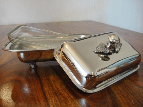 Butterdose Silber Luxus Antik Jugendstil Edelstahl Butter Dose Glas Deckeldose