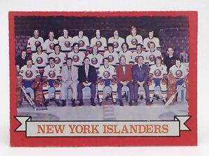 1973-74-OPC-O-Pee-Chee-Team-Card-101-New-York-Islanders-Hockey-Card-E640