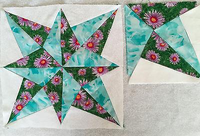 Die cut Blazing star Quilt block  #K006K