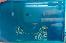 VINTAGE CHERRY RED COVER BLUE TRANSPARENT AMBER BAKELITE CATALIN ROD BLOCK DICE
