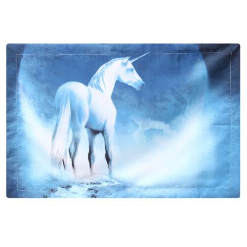 Bettbezug Kissenbezug Blau Karton Heilig Einhorn Bettdecke Decke Bettwäsche