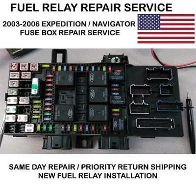 2003-2006 ford expedition fuse box fuel pump relay service