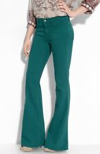 $225 J Brand 823CO036 Bell Bottom Flare BERMUDA Teal Blue Jeans 28