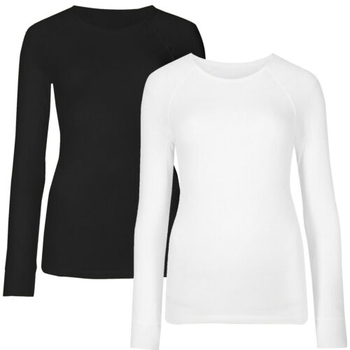 Marks /& Spencer Womens Pointelle Brushed Long Sleeve Thermal New M/&S Warm Top