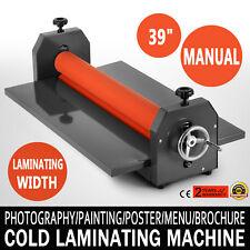 "39/"" 1000mm Cold Laminator Laminating Machine Manual Wide Format Vinyl Book Film"