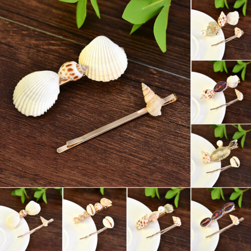 New Designs Jewelry Sea Shell Hair Clips Women Barrettes Trendy Pearl Hair Pins