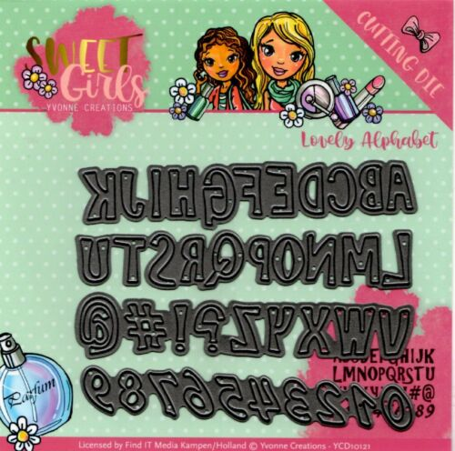 Yvonne Creations Sweet Girls Cutting Die Lovely Alphabet 4pcs YCD10121