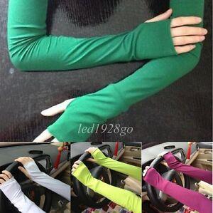 1pair-Fashion-Warm-Arm-Warmer-Cotton-Long-Fingerless-Gloves-For-Women-Drive-Wear