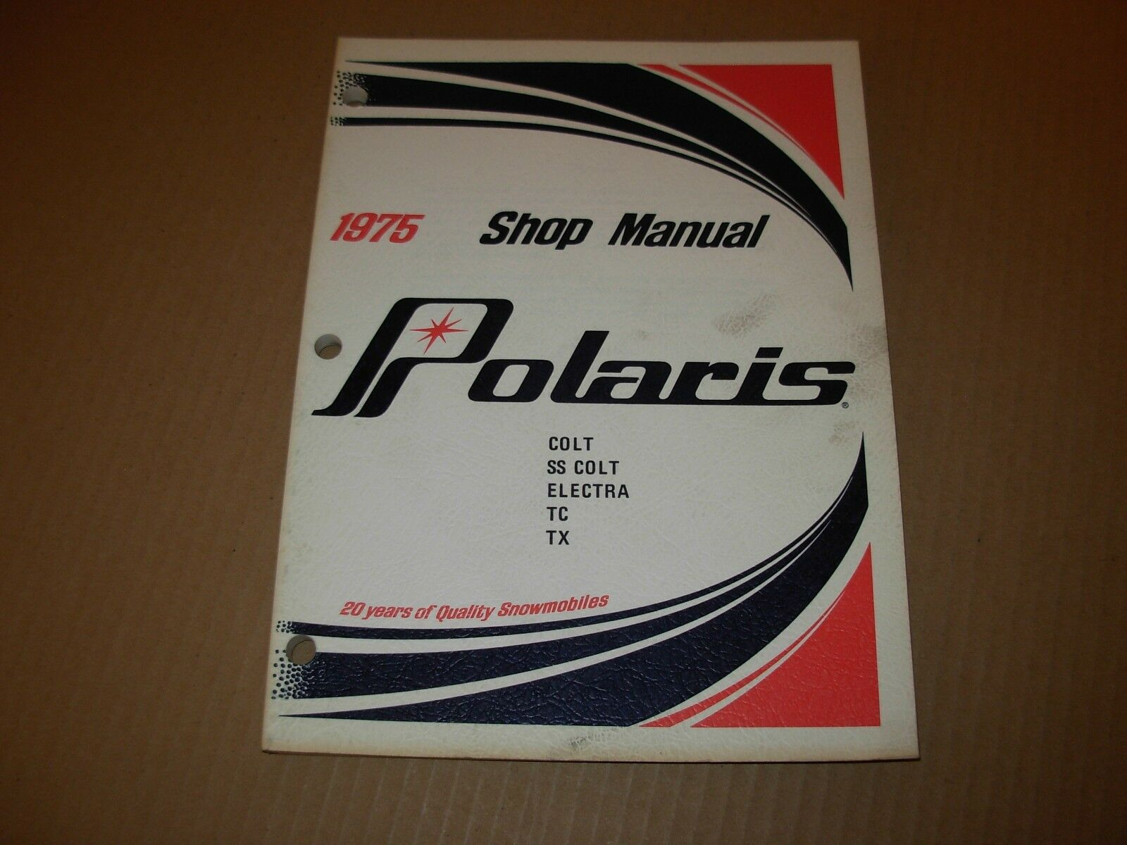 1975 Polaris Colt SS Colt Electra TC TX Snowmobile Shop Service Manual
