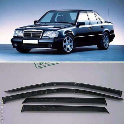 Chrome Trim Window Visors Guard Vent Deflectors For Mercedes E Sd W124 1984-1995