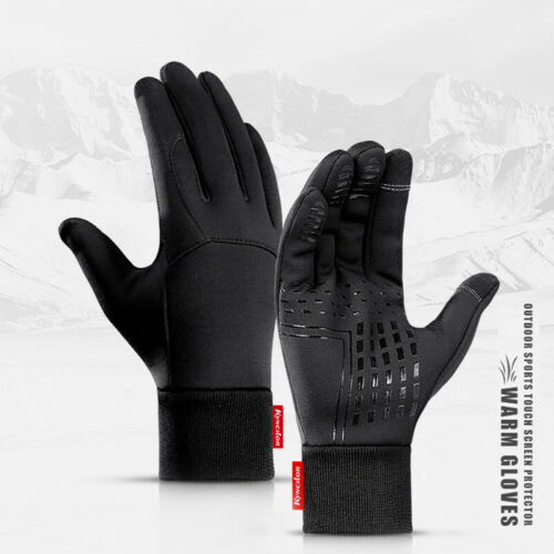 Details about  /Mens Winter Warm Thermal Water Resistant Windproof Touch Screen Sports Gloves