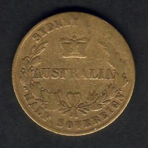 Australia-1866-Sydney-Mint-Half-Sovereign-aF-VG