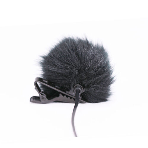 Black Fur Windschutzscheibe Windschutzscheibe Wind Muff für Revers Mikrofon Mic