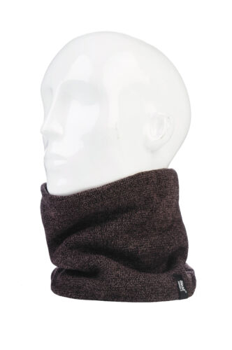 1 no Mens GENUINE Thermal Winter Warm Heat Holders Neck Warmer Snood Scarf
