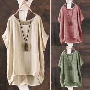 Fashion-ZANZEA-Women-Summer-Batwing-Short-Sleeve-Blouse-Casual-Loose-Tops-Shirts