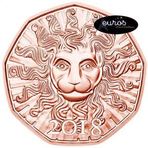 Piece-5-euros-commemorative-AUTRICHE-2018-Le-Nouvel-An-UNC-Cuivre-999-1000