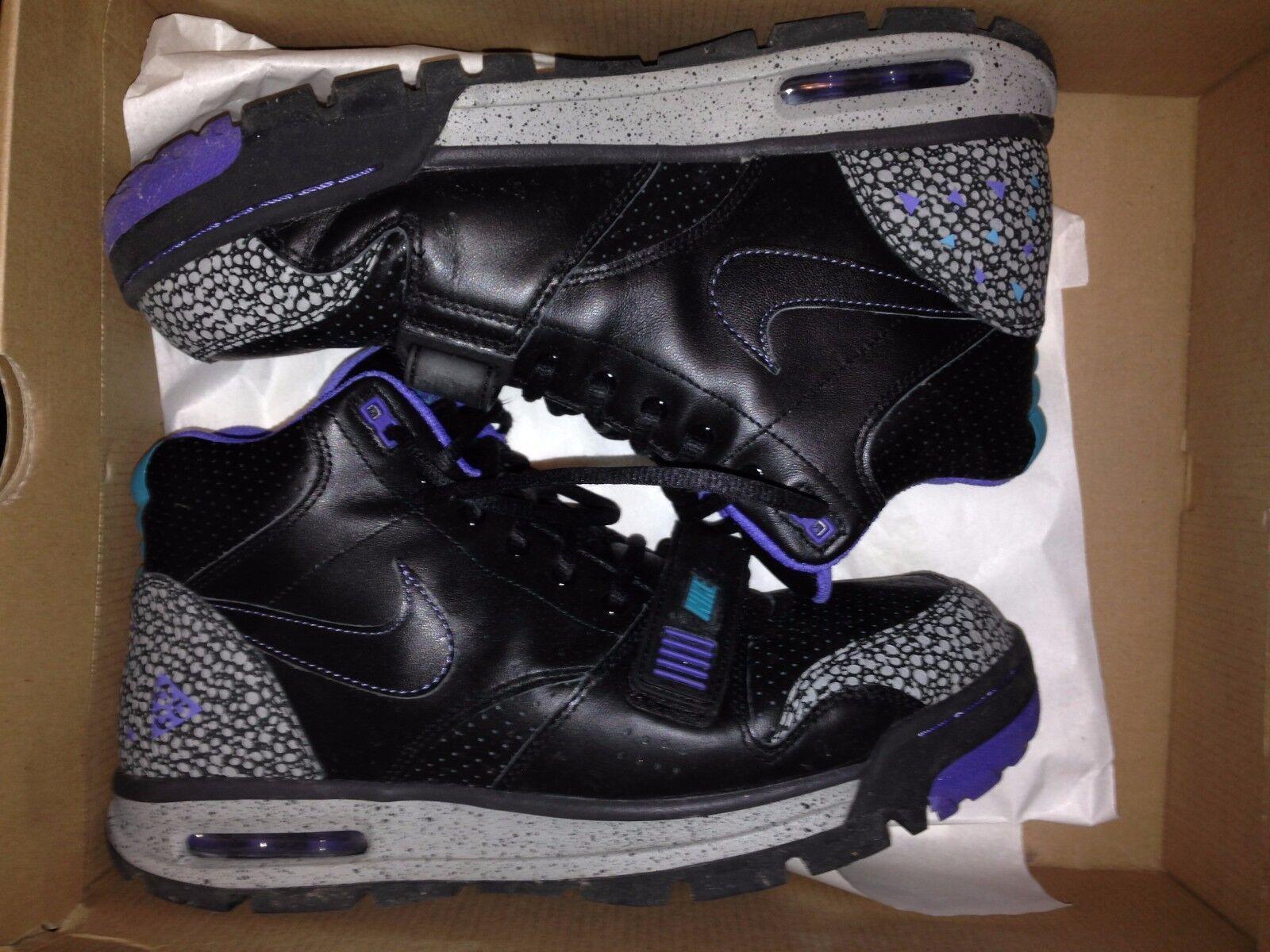 Nike air max chisulo nero / nero acquamarina inverno scarpe taglia 11 - s / h