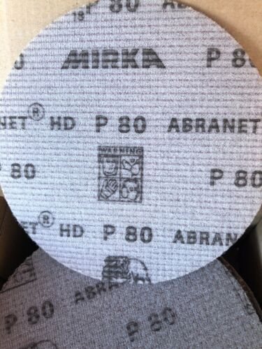 "25 Discs per Box P80 Grit Mirka Abranet HD Net 5"" Grip Disc"