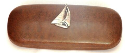 Yacht glasses spectacles Pu Leather Effect case Yachting boat gift presents