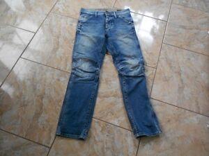 Embro H8010 Unifarben Hertige L30 W28 Tapered G star Elwood Jeans Gut Mittelblau WrOHCFW