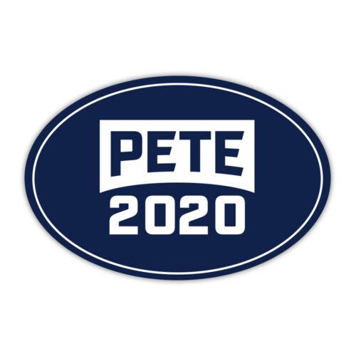 "Oval Political Campaign Magnet Pete Buttigieg President Pete 2020 6/"" x 4/"""